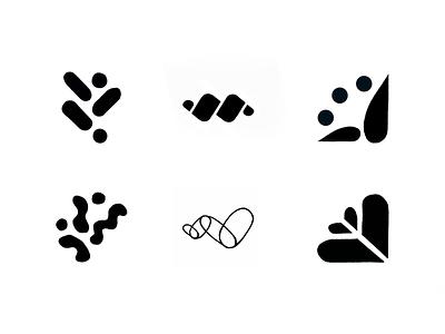 Intercept Logo Options process sketch confetti unity collaboration growth library book icon identity branding logo aten