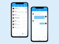 Message conversation page