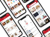 Pet adoption app interface