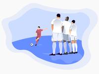 World cup kicker illustration