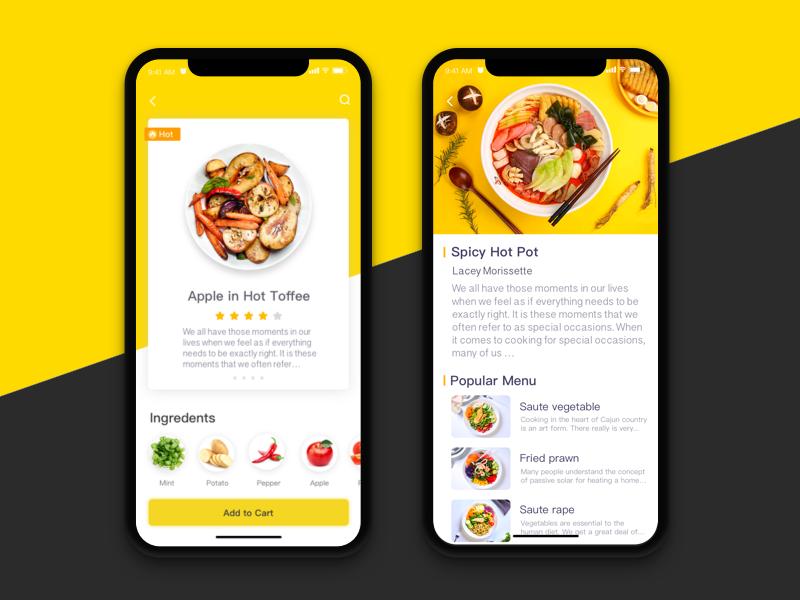 Gourmet interface ux ui food