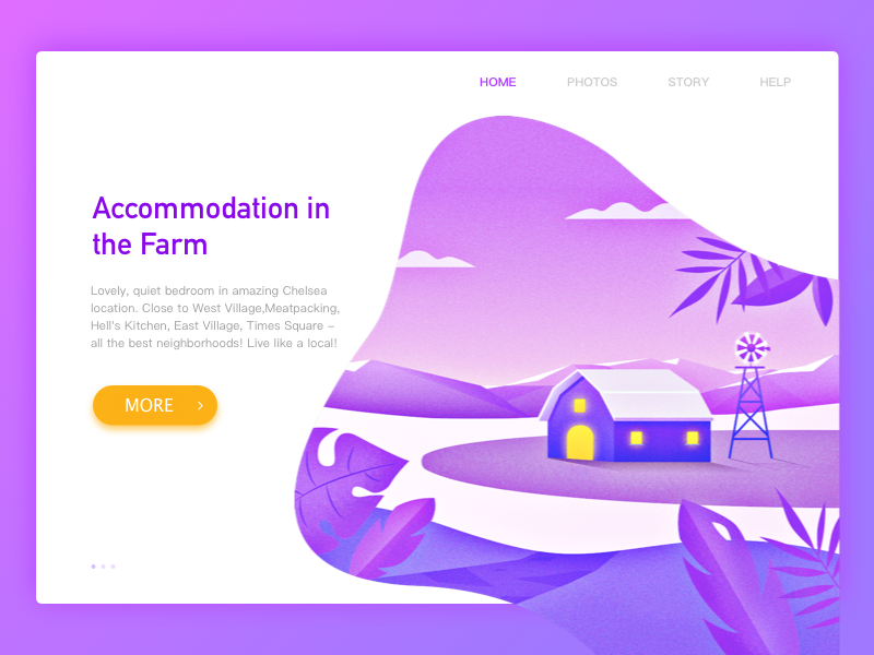 Residence website illustration web travel windmill stay