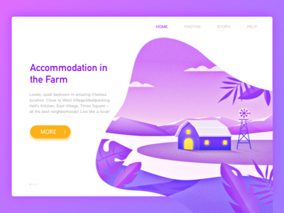 Residence website illustration web travel windmill stay