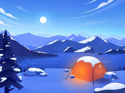 Snow scene illustration snow scene illustration snow scene illustration design illustration design illustration