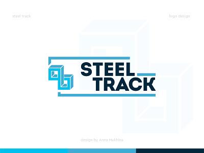 Logo design for Steel Track company clean design clean logo simple design minimalist logo steelseries logotype designer logotype design steel steel logo logo design annamukhina
