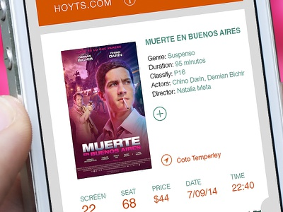Cinema App app mobile typography payment images ui ux