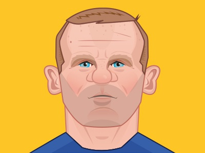 Wayne Rooney illustration design character premier league signing transfer football soccer manchester united everton rooney wayne