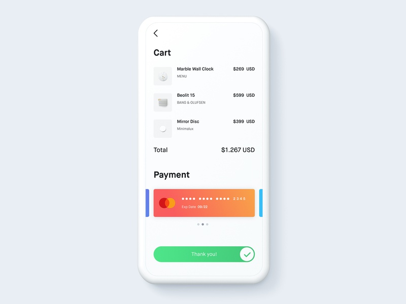 Daily UI #002: Credit Card Checkout UI