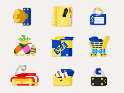 IKEA Icon Design icon ikea furniture shopping