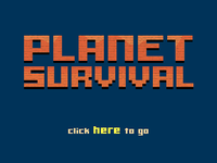 Planet Survival - Title Screen