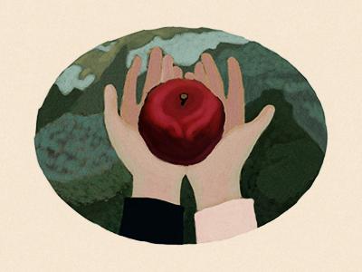 The Trilogy - Apple trilogy illustration painter painting apple