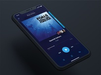 UI Challenge #009 - Music Player (perspective)