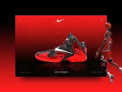 Nike Air Jordan e-commerce shop e-commerce web design ui ux