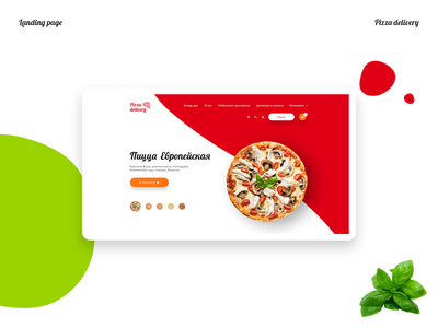 Landing page Pizza delivery web design landing page