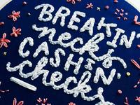 Breakin' necks embroidery