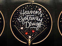 Heaven's Gateway Drugs Embroidery
