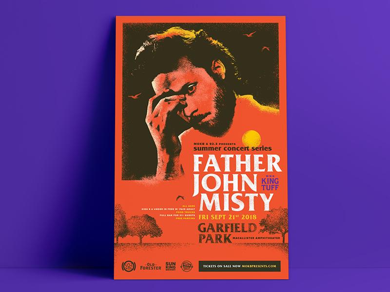 Father John Misty / King Tuff Gig Poster indianapolis gig poster music gig poster king tuff father john misty