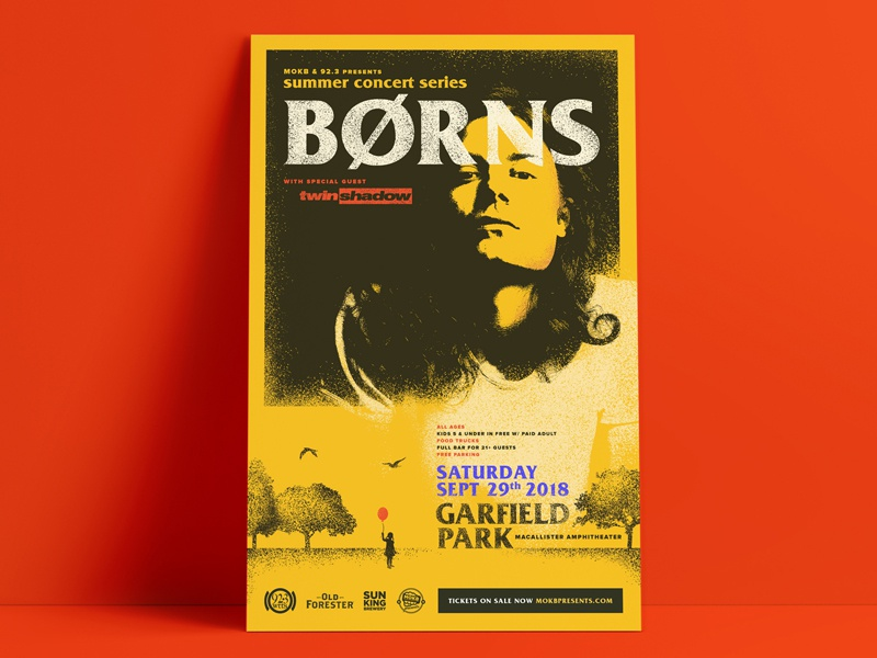 BØRNS with Twin Shadow Gig Poster indianapolis gig poster music gig poster twinshadow borns