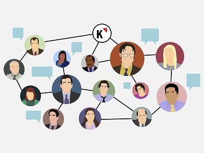 Refer A Team Member ads referral flat design illustration the office