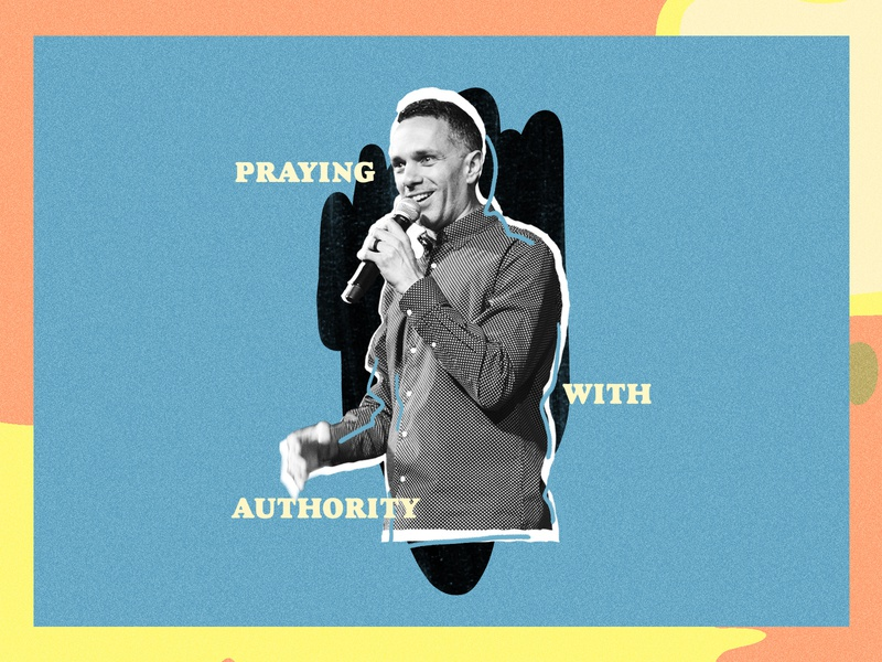"""Praying with Authority"" Social Promotion illustration design church"