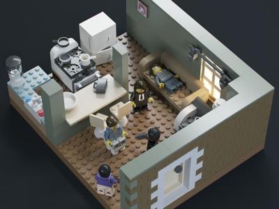 Pulp Fiction — Lego version lego corona render 3d