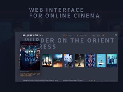 Online cinema concept krsk minimalism fullscreen ux ui