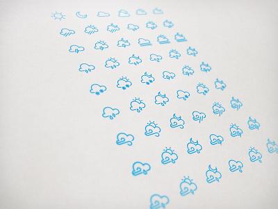 Unyu Clouds ios 7 icon inline weather rainbow cloud rain lightning sun coreicons tab bar icon