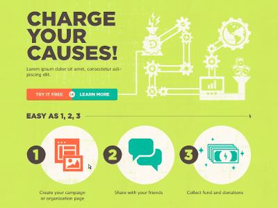 Chaaaarge! illustration website button grain grunge cog machine illustrator