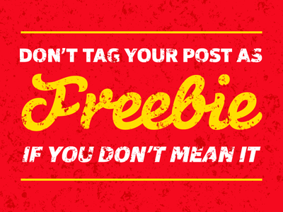 Just Don't freebie not