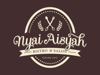 Nyai Aisyah's Retro Logo logo type brand retro vintage bistro hairspa hairsalon indonesia