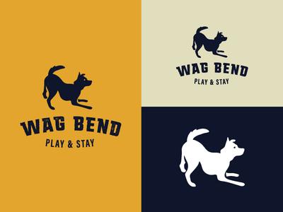 Wag Bend play wag logo dog dog logo