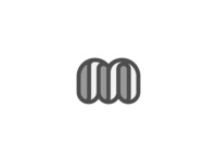 Grey and White M Logo