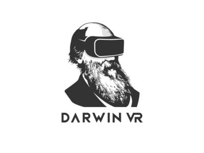 Darwin VR typography vector design logo illustration