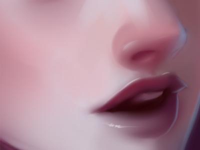 Celia's Lips illustration sai digital painting missjosh lips nose girl mouth