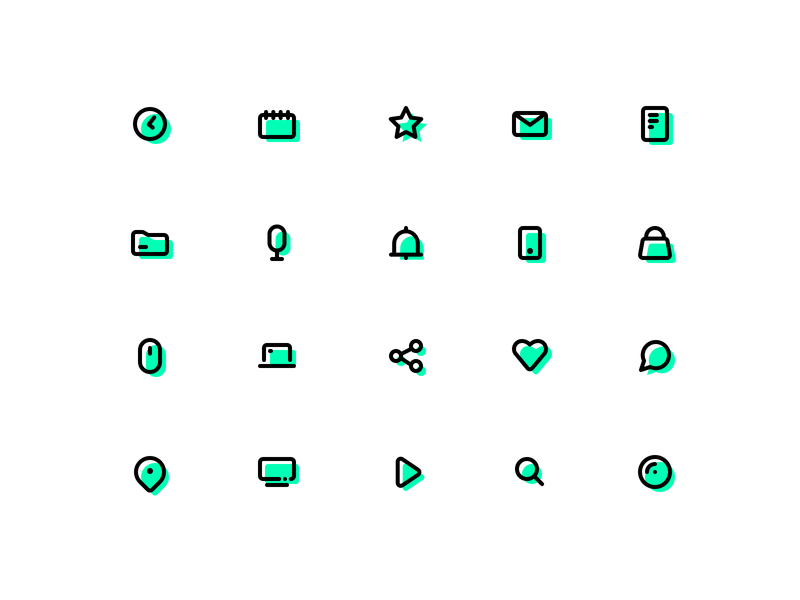 Icon set - inspired from wishbox