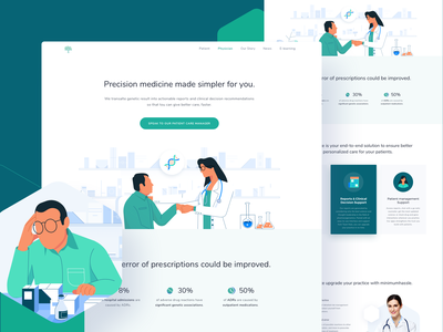 Nalagenetics Website - Physicians - Omnicreativora patient illustration healthcare health dna landing landing page website design website hospital nurse doctor pharmacy medicine app medicine