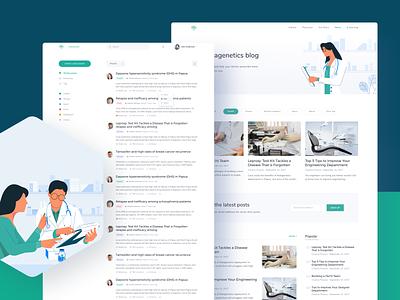 Nalagenetics Website - Blog - Omnicreativora health care health insurance nurse hospital doctor medicine healthcare blog dashboard illustration landing page website