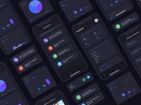 Covid-19 App - Dark Version