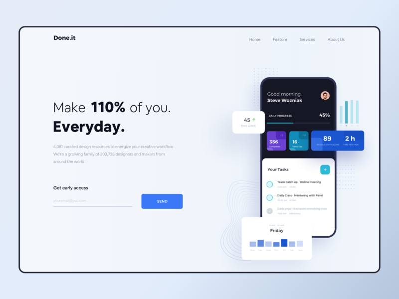 Daily Task Landing Page