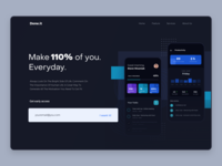 Daily Task Landing Page - Dark Version daily task task list task management project management dashboard websites finance minimal daily ui website illustrations data analytics