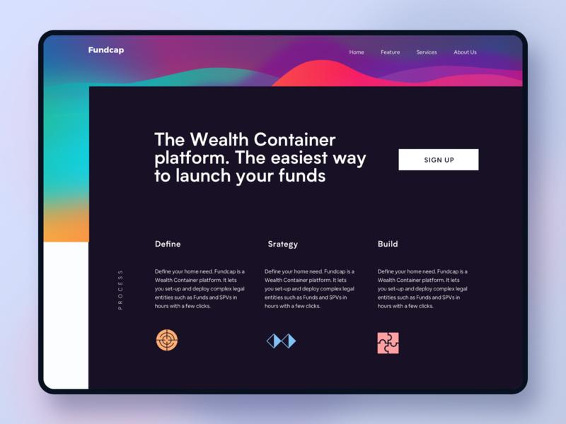 Venture Capital Website #exploration minimal color gradient color vc funding bigsur gradient landing page finance website