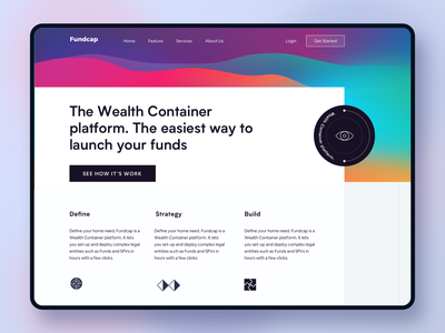 Venture Capital Website #exploration big sur gradient venture capital venture branding dashboard minimal landing page finance website