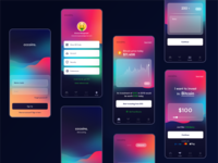 Cccoins - Bitcoin Investment Application #exploration minimal finance dashboard minimalism color gradient application investment blockchain trading bitcoin wallet bitcoin