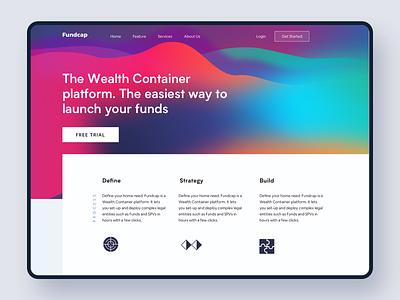 Venture Capital Website #exploration 3 funding venture capital branding minimal landing page website finance dashboard