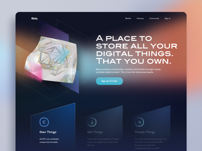 NFT Website Exploration art ui finance dashboard landing page website ethereum bitcoin marketplace cryptocurrency crypto