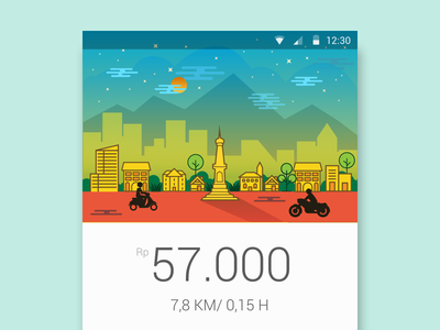 App Illustration flat city ux ui user interface illustration