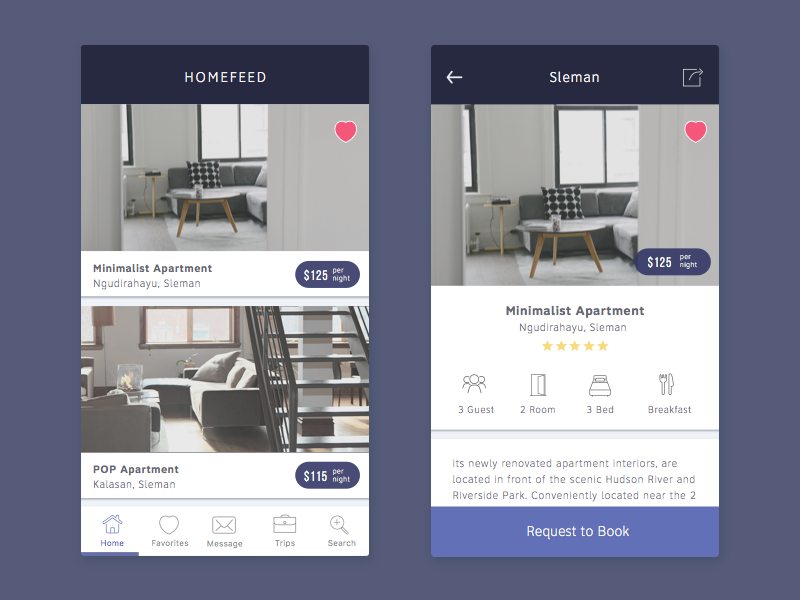 House Rent App travel hotel airbnb ecommerce apartment house home rent