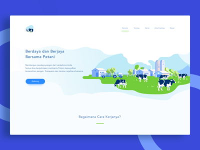 Sapi Kita Landing Page - Agricultural Investment  mobile-application wealth money investment insights finch finance farmer cow