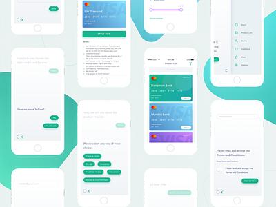 Credit App - Conversational UI ux credit messenger commerce conversational chatbot chat bot ai