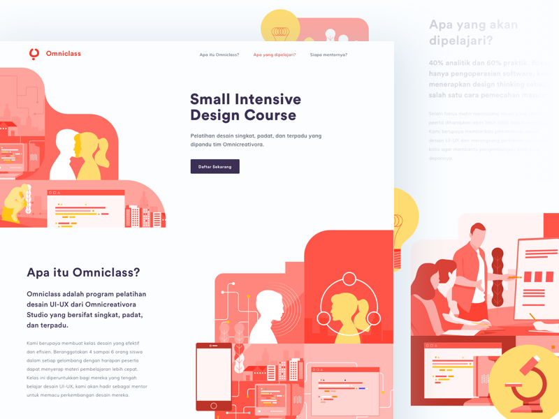 Omniclass landingpage by anggit yuniar pradito dribbble ccuart Image collections